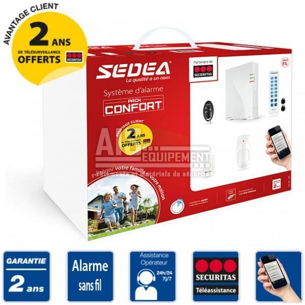 securitas alarme maison sans fil ip pack confort. Black Bedroom Furniture Sets. Home Design Ideas